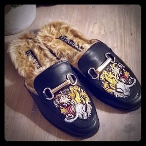 Furry loafers
